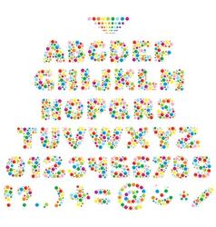 Multicolor font for children vector image