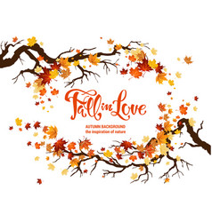 nature fall template vector image