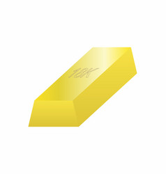 one gold bar vector image