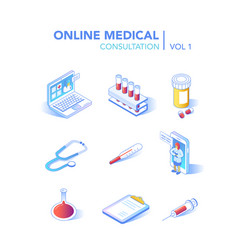 online healthcare isometric concept medical vector image