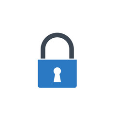 padlock related glyph icon vector image