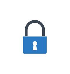 padlock related glyph icon vector image
