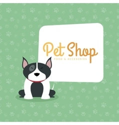 Pet shop background vector