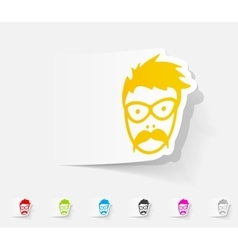 realistic design element face male vector image