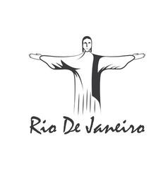 rio de janeiro with Jesus Christ vector image
