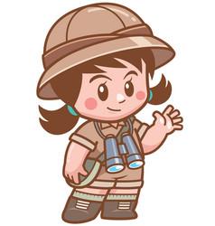 safari girl vector image