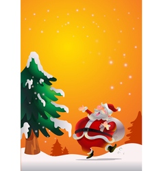 Santa Claus poster orenge vector image