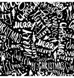 Seamless Merry Christmas pattern vector