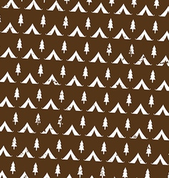 seamless pattern camping in woods with the vector image