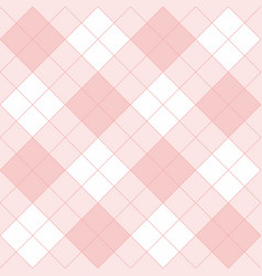 seamless pink background - checkered pattern vector image