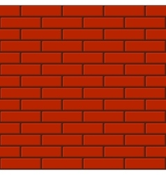 Seamless Tiled Red Brick Wall vector