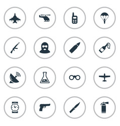 Set of 16 simple terror icons can be found such vector
