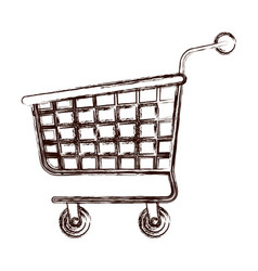 shopping cart icon in brown blurred silhouette vector image vector image