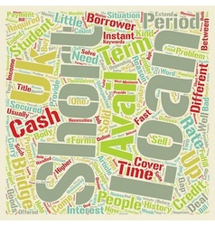 Short Term Loans UK A Cover For Short Period text vector image