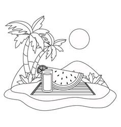 slice watermelon and juice design vector image