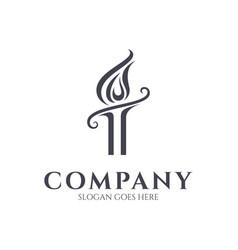 Torch logo template vector