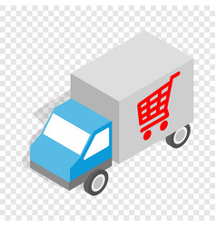truck for delivery isometric icon vector image