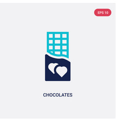 Two color chocolates icon from love wedding vector