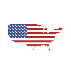 usa states flag america on a white background vector image
