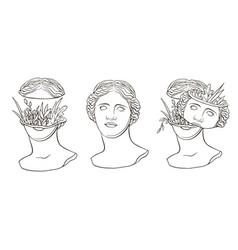 Venus de milos head 1 de milos head 1 vector