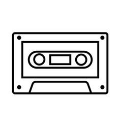 vintage cassette music vector image