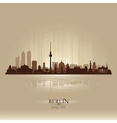 Berlin Germany city skyline silhouette vector image vector image