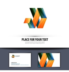 Business Logo icon emblem template business card vector image vector image