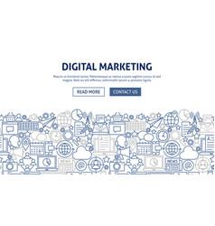 digital marketing banner design vector image
