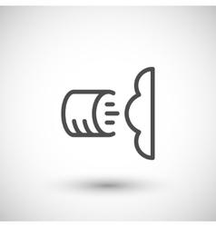 Foam insulation line icon vector image vector image