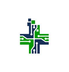 global digital healthcare vector image vector image