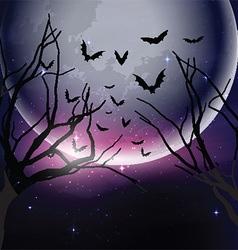 Halloween night sky background vector image vector image