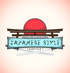 japan style banner with catanas vector image vector image