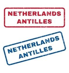 Netherlands Antilles Rubber Stamps vector image vector image