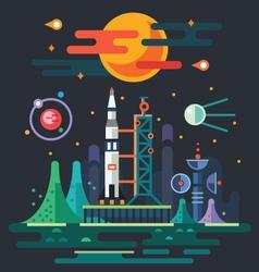 Space landscape vector image