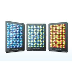 three tablet computers - vector image vector image
