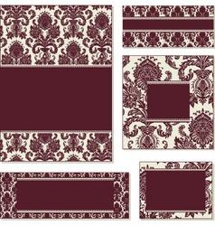 vector burgundy open frame set vector image