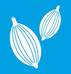 Cardamom pods icon white vector