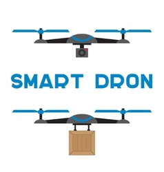 Flat quadrocopters icons vector image