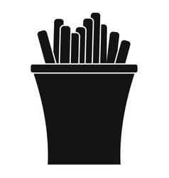 french fries icon simple black style vector image vector image