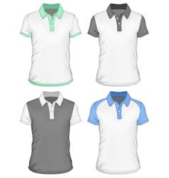 Mens polo-shirt design templates vector image vector image