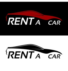 Rent a car logo vector image