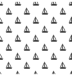 Small boat pattern simple style vector image vector image