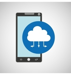 smartphone programming web cloud vector image vector image