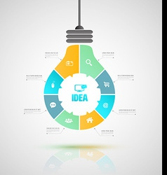bulb business concepts with icons can use for info vector image
