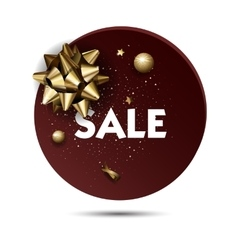 Christmas or new year holiday sale price circle vector