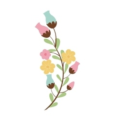 decorative flowers icon vector image