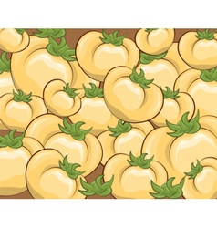 Fresh Yellow tomatoes pattern vector image vector image