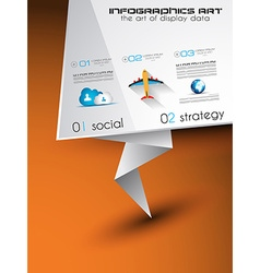 Origami Flat style flyer design or Brochure vector image vector image