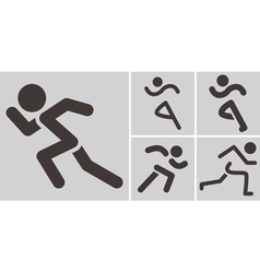 Running icons vector image