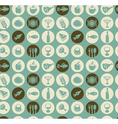 seamless pattern with restaurant and food i vector image vector image